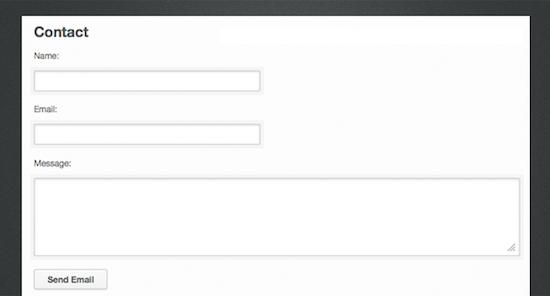 jQuery contact form.